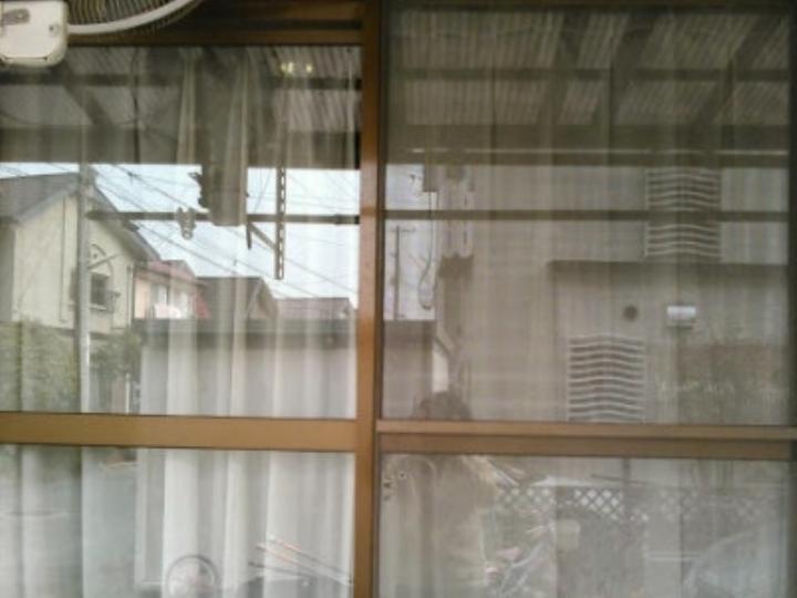K様邸 サッシ既存のままガラスのみペアガラスに交換