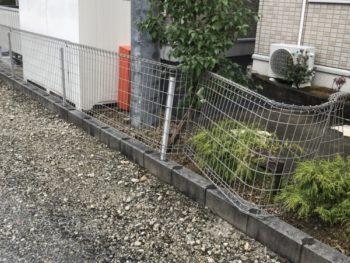 桑名市 運送会社様 フェンス交換工事事例
